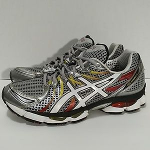 Asics Men's Gel Nimbus 13 Grey Red BLK. Sz 10